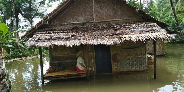 Banjir di Tanjung Lame Masyarakat menduga karena adanya saluran drainase yang tertutup oleh pihak perusahaan tambak