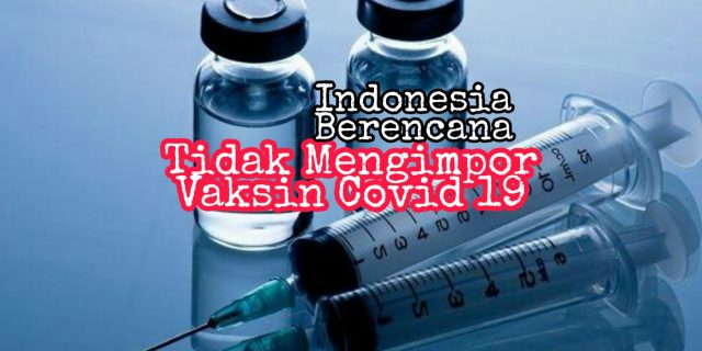 Alasan Mengapa Indonesia Tidak berencana Impor Vaksin dari Cina atau Amerika untuk menangani Covid19